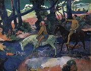 Gauguin, Paul 1848-1903. Ford Running Print by Everett
