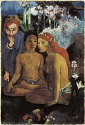 Exterior Pictures Posters - Gauguin, Paul 1848-1903. Primitive Poster by Everett