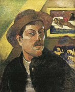 Self-portrait Photo Prints - Gauguin, Paul 1848-1903. Self Portrait Print by Everett