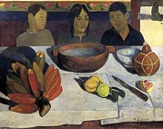 The Meal (the Bananas) Framed Prints - Gauguin, Paul 1848-1903. The Meal  Or Framed Print by Everett
