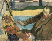 Gauguin, Paul 1848-1903. Van Gogh Print by Everett