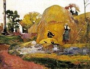 Moisson Prints - Gauguin, Paul 1848-1903. Yellow Print by Everett
