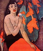 Paul Gauguin Mixed Media - GAUGUIN TRIBUTE 1  Art Deco by Gunter  Hortz
