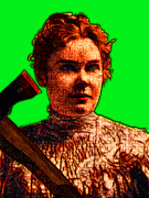 Lizzie Bordon Posters - Gave Her Father Forty Whacks - Green Poster by Wingsdomain Art and Photography