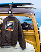 Bomber Jacket Digital Art - Gaviota Surf Gear by Ron Regalado