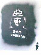 Tiara Paintings - GAY-GUEVARA with his TIARA by Banksyno2