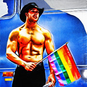 Waving Flag Digital Art - Gay Pride by Nishanth Gopinathan