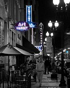 Tennessee Landmark Prints - Gay Street Lights Print by Matthew Johnson