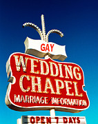 Wedding Chapel Posters - Gay Wedding Chapel Poster by Matthew Bamberg