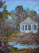 Oilpaint Posters - Gazebo and a Dream Poster by Michael Mrozik