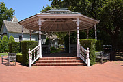 Log Cabins Originals - Gazebo at Historical Park by Ruth  Housley