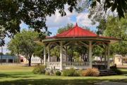 Old Town Digital Art Acrylic Prints - Gazebo Fredricksburg Texas Acrylic Print by Linda Phelps