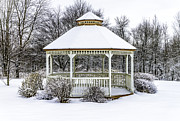 Glenn Wood Framed Prints - Gazebo In Winter Framed Print by Glenn Gordon