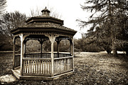 Fall Photos Framed Prints - Gazebo Framed Print by John Rizzuto