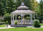 Gazebo Greeting Card Framed Prints - Gazebo Framed Print by Laurie Eve Loftin