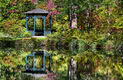 Nature Center Pond Photo Prints - Gazebo Retreat Print by John Greim