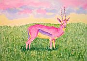 Gazelle Paintings - Gazzie by Rhonda Leonard