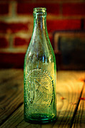 Glass Bottle Framed Prints - GBS Aqua Beer Bottle  Framed Print by Rebecca Sherman