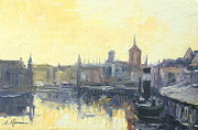 North Sea Paintings - Gdansk Harbour - Poland by Luke Karcz