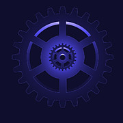 Industrial Concept Digital Art Prints - Gear - Cog Wheel Print by Michal Boubin