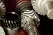 Crankshaft Prints - Gear Town  Print by Wilma  Birdwell