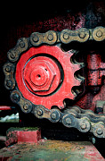 Railway Locomotive Framed Prints - Gear wheel and chain of old locomotive Framed Print by Matthias Hauser