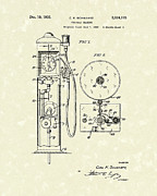 Gear Drawings Metal Prints - Gears 1935 Patent Art Metal Print by Prior Art Design