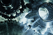 Gears Photos - Gears And Cogwheels by Christian Lagereek