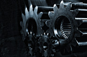 Gears Wheel Framed Prints - Gears And Cogwheels In High Definition Framed Print by Christian Lagereek