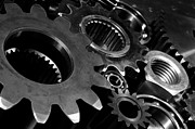 Progress Acrylic Prints - Gears Cogwheels Nuts And Bolts Acrylic Print by Christian Lagereek