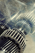 Stainless Steel Prints - Gears Of Titanium And Steel Print by Christian Lagereek