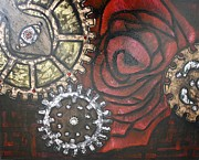 Swarovski Crystals Painting Originals - Gears of War of the Roses 2 by Rebecca Schoof