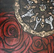 Swarovski Crystals Painting Originals - Gears of War of the Roses 3 by Rebecca Schoof