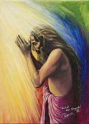 Yoga Painting Prints - Gebet der Hingabe Print by Chiaron Art