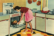 Housewife Prints - Gec 1960 1960s Uk Housewives Housewife Print by The Advertising Archives