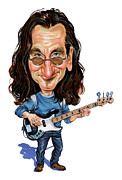 Caricatures Paintings - Geddy Lee by Art