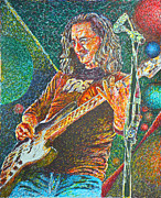 Bass Player Drawings Posters - Geedy Lee Poster by Breyhs