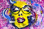 Super Star Mixed Media Posters - Geek Chic Marilyn Poster by Tony Artz