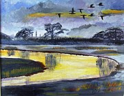Topher Essex - Geese over River