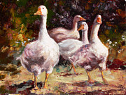 Geese Paintings - Geese by Tanya Jansen