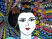 Hair Bun Originals - Geisha Girl Colourful by Karen Larter