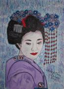 Kathy Marrs Chandler Art - Geisha Girl by Kathy Marrs Chandler