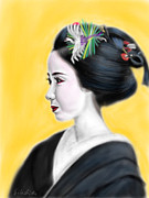 Yoshiyuki Uchida Prints - Geisha No.1 Print by Yoshiyuki Uchida