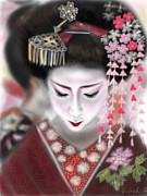 Yoshiyuki Uchida Prints - Geisha No.2 Print by Yoshiyuki Uchida