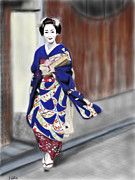 Yoshiyuki Uchida Prints - Geisha No.6 Print by Yoshiyuki Uchida