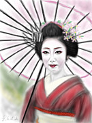Yoshiyuki Uchida Prints - Geisha No.8 Print by Yoshiyuki Uchida