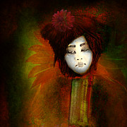 Concubine Digital Art Metal Prints - Geisha5 - Geisha Series Metal Print by Jeff Burgess