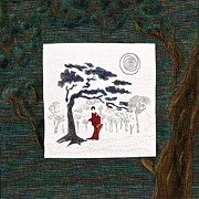 Tree Creature Mixed Media Prints - Geishas Midnight Stroll Print by Elena Kazmier Miranda Radock