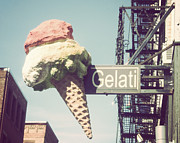 Italian Kitchen Posters - Gelati Poster by Jillian Audrey Photography