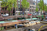 Linked Metal Prints - Geldersekade Canal in Amsterdam Metal Print by Artur Bogacki